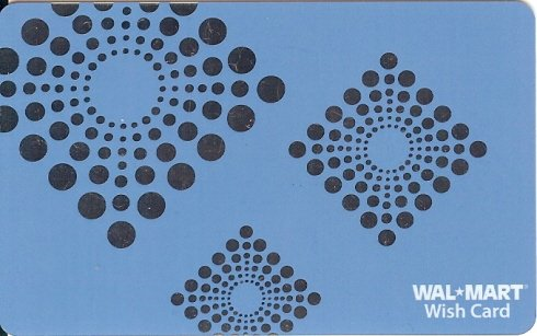 Walmart Collectible Gift Card - Silver Foil Ornaments on Blue VL4074