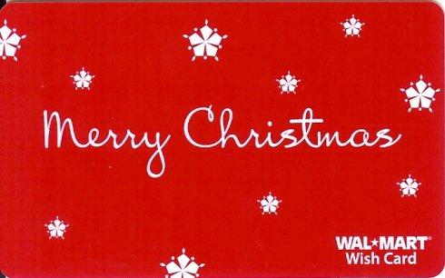 Walmart Collectible Gift Card - Merry Christmas Snowflakes VL4052