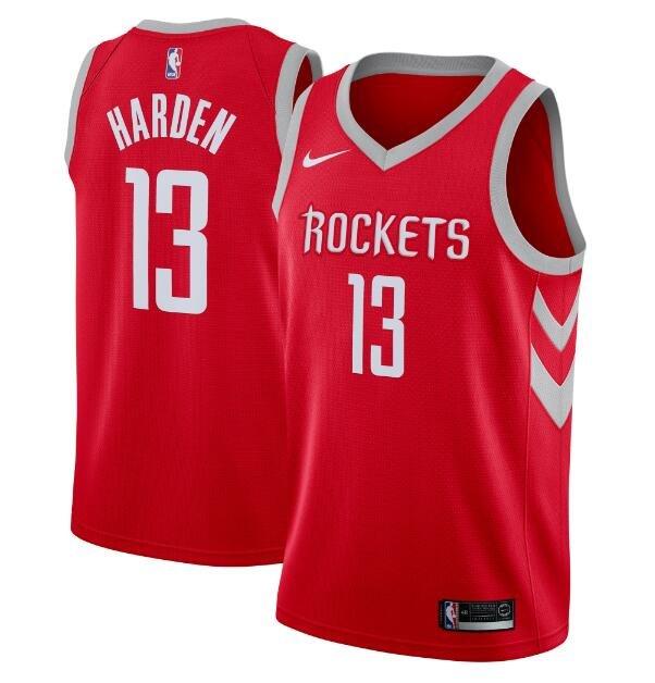 James Harden #13 Houston Rockets Swingman Jersey Red