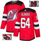 Joe Blandisi #64 New Jersey Devils Player Men's Jersey Red S M L XL XXL XXXL