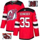 Cory Schneider #35 New Jersey Devils Player Men's Jersey Red S M L XL XXL XXXL