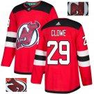 Ryan Clowe #29 New Jersey Devils Player Men's Jersey Red S M L XL XXL XXXL