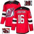 Jacob Josefson #16 New Jersey Devils Player Men's Jersey Red S M L XL XXL XXXL