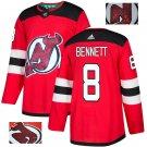 Beau Bennett #8 New Jersey Devils Player Men's Jersey Red S M L XL XXL XXXL