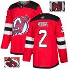 John Moore #2 New Jersey Devils Player Men's Jersey Red S M L XL XXL XXXL