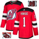 Keith Kinkaid #1 New Jersey Devils Player Men's Jersey Red S M L XL XXL XXXL
