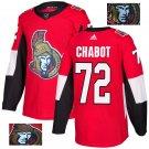Thomas Chabot #72 Ottawa Senators Player Men's Jersey Red S M L XL XXL XXXL