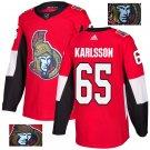 Erik Karlsson #65 Ottawa Senators Player Men's Jersey Red S M L XL XXL XXXL