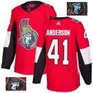 Craig Anderson #41 Ottawa Senators Player Men's Jersey Red S M L XL XXL XXXL