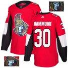 Andrew Hammond #30 Ottawa Senators Player Men's Jersey Red S M L XL XXL XXXL