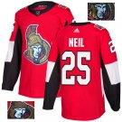 Chris Neil #25 Ottawa Senators Player Men's Jersey Red S M L XL XXL XXXL