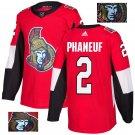 Dion Phaneuf #2 Ottawa Senators Player Men's Jersey Red S M L XL XXL XXXL