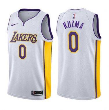 huge discount ed116 e1d95 Kyle Kuzma #0 Los Angeles Lakers Swingman Men's Jersey White ...