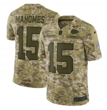 buy online 253c6 1bcea Patrick Mahomes #15 Kansas City Chiefs Salute to Service Limited Jersey  Men's Camo Size XXL