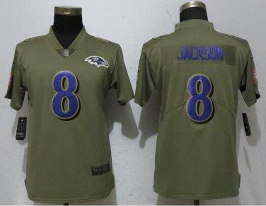 new concept 4727b dcbbb Lamar Jackson #8 Baltimore Ravens Salute to Service Limited ...