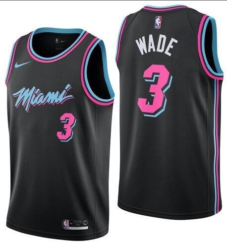 Dwyane Wade #3 Miami Heat 2018/19 Swingman Men's Jersey ...