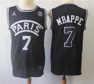 new style 9327a 398d1 Kylian Mbappe #7 Paris Saint-Germain Men's Home Jersey Black ...