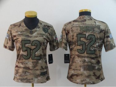 check out 00627 77610 Khalil Mack #52 Chicago Bears Salute to Service Limited Player Jersey Youth  Camo Size M