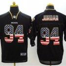 Cameron Jordan #94 New Orleans Saints Rush Limited Player Jersey Men's Black USA Flag Size XXXL
