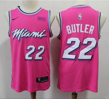 watch 3616d 69369 Jimmy Butler #22 Miami Heat 2019/20 Swingman Men's Jersey Earned Edition  Pink Size S