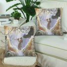 "One With Nature Peace Pipe Custom Zippered Pillow Cases 18""x 18"" (Twin Sides) (Set of 2)"