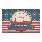 Albany New York Retro Skyline Bath Rug 20''x 32''