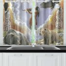 One With Nature Peace Pipe Kitchen Curtain 26'' X 39''