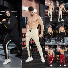 Mens Slim Fit Tracksuit Sport Gym Skinny Jogging Joggers Sweat Pants Trousers