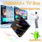 New H96 Max+ Smart TV Box Android 8.1 Quad-Core 4K 4GB 64GB WiFi HD RK3328 Media