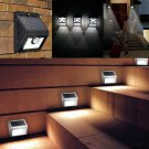 Solar Powered Wall Light Mount LED Outdoor Garden Path Landscape Fence Yard Lamp