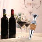 Zinc Alloy Glyptostrobus Flat Wine Stopper Wine Cork Wine Bottle Stopper