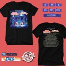 CONCERT 2018 JOHN FOGERTY AND ZZ TOP:BLUES AND BAYOUS BLACK TEE DATES CODE EP01