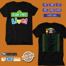 CONCERT 2018 SESAME STREET LIVE! LET'S PARTY TOUR BLACK TEE DATES CODE EP01