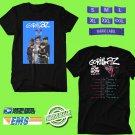 CONCERT 2018 GORILLAZ THE NOW NOW TOUR BLACK TEE DATES CODE EP03