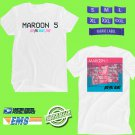 CONCERT 2018 MAROON FIVE RED PILL BLUES TOUR WHITE TEE DATES CODE EP01
