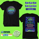 CONCERT 2018 CAMP BISCO MUSIC FESTIVAL JULY BLACK TEE DATES CODE EP01