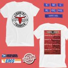 CONCERT 2018 COUNTRY THUNDER CRAVEN SK MUSIC FESTIVAL JULY WHITE TEE DATES CODE EP01