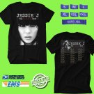 CONCERT 2018 JESSIE J THE ROSE TOUR BLACK TEE DATES CODE EP02