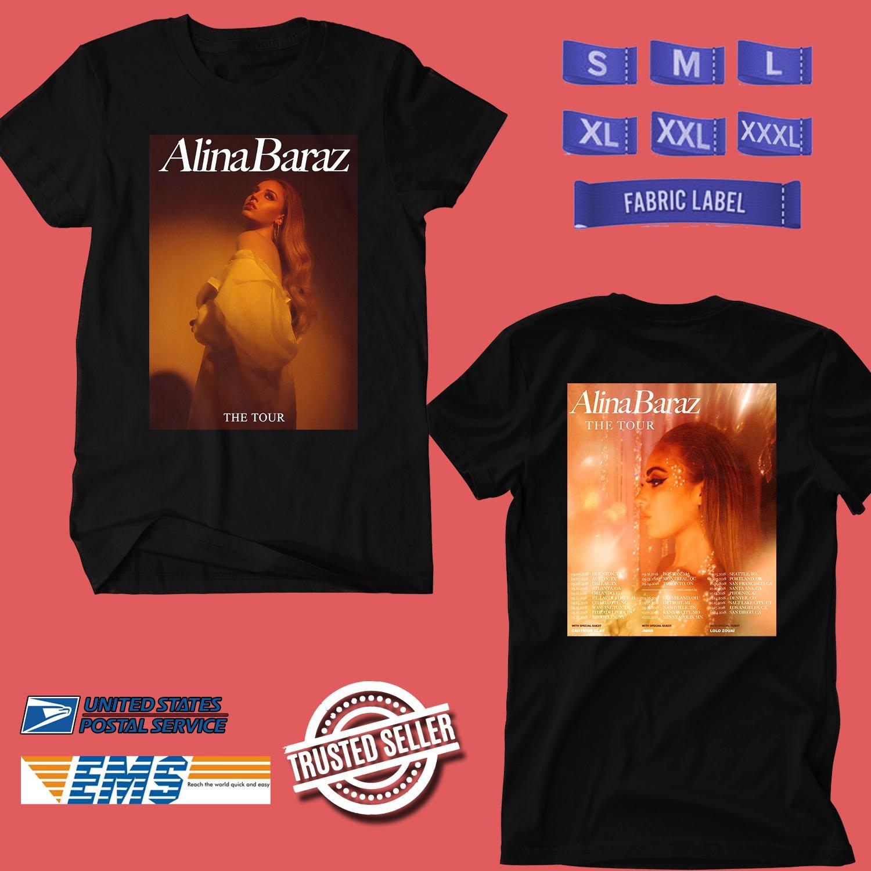 CONCERT 2018 ALINA BARAZ THE TOUR BLACK TEE DATES CODE EP01