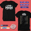 CONCERT 2018 PHISH SUMMER AND FALL N.AMERICA TOUR BLACK TEE DATES CODE EP01