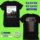 CONCERT 2018 THREE DAYS GRACE THE OUTSIDER TOUR BLACK TEE DATES CODE EP01