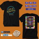 CONCERT 2018 LIFE IS BEAUTIFUL SEPT FEST BLACK TEE DATES CODE EP01