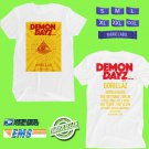 CONCERT 2018 DEMON DAYZ LOS ANGELES SEPT FEST WHITE TEE DATES CODE EP01