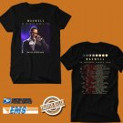 CONCERT 2018 MAXWELL 50 INTIMATE NIGHTS LIVE TOUR BLACK TEE DATES CODE EP01