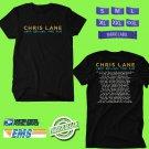 CONCERT 2018 CHRIS LANE LAPS AROUND THE SUN TOUR BLACK TEE DATES CODE EP01