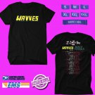 CONCERT 2018 WAVVES AND BEACH FOSSILS THE I LOVE YOU TOUR BLACK TEE DATES CODE EP02