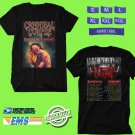 CONCERT 2018 CANNIBAL CORPSE FALL TOUR BLACK TEE DATES CODE EP02