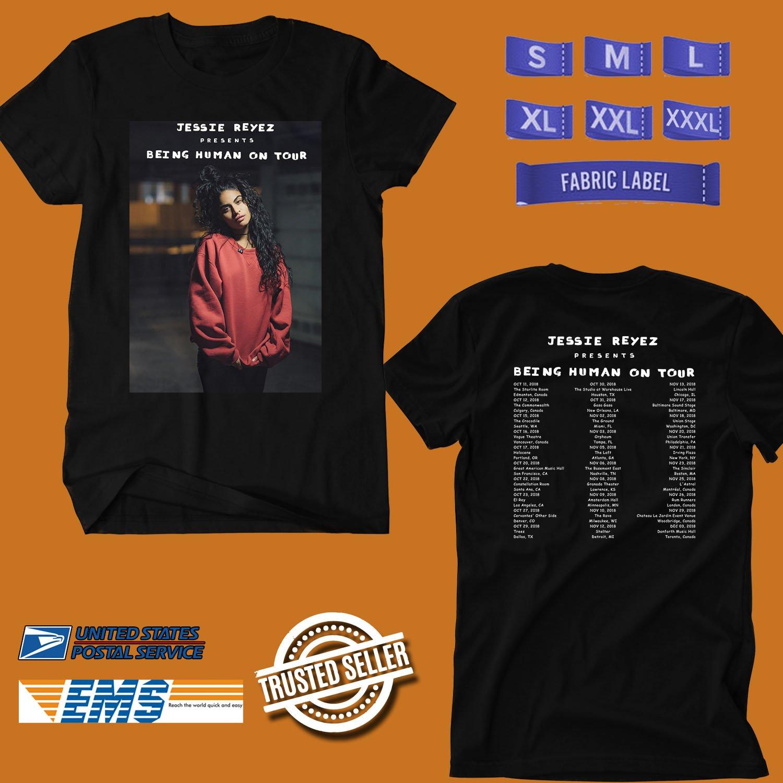 CONCERT 2018 JESSIE REYEZ BEING HUMAN ON TOUR BLACK TEE DATES CODE EP01