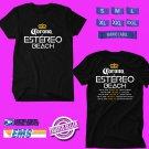 CONCERT 2018 WISIN CORONA ESTEREO BEACH USA TOUR BLACK TEE DATES CODE EP01