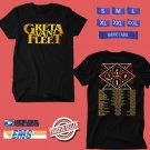 CONCERT 2018 GRETA VAN FLEET WORLD TOUR BLACK TEE DATES CODE EP03